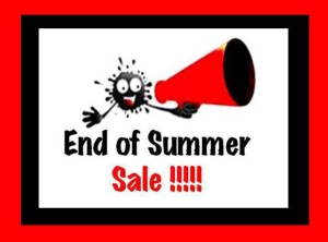 End of Summer Sale Sign